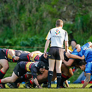 Action during the Hardham Cup rugby union game played between Johnsonville v Paremata-Plimmerton (Permiers), on 23 June 2018, at Helston Park, Johnsonville, Wellington, New  Zealand.    Johnsonville won 22-13.