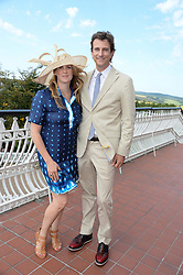 Stefano & Emily Sutter at the 3rd day of the 2013 Glorious Goodwood racing festival - Ladies day at Goodwood Racecourse, West Sussex on 1st August 2013.