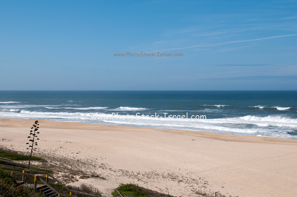 Seascape of the Atlantic Ocean at Sao Pedro de Moel, Portugal