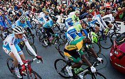 Matej Mohoric, Domen Novak of Slovenia at start during the Men's Elite Road Race a 258.5km race from Kufstein to Innsbruck 582m at the 91st UCI Road World Championships 2018 / RR / RWC / on September 30, 2018 in Innsbruck, Austria. Photo by Vid Ponikvar / Sportida