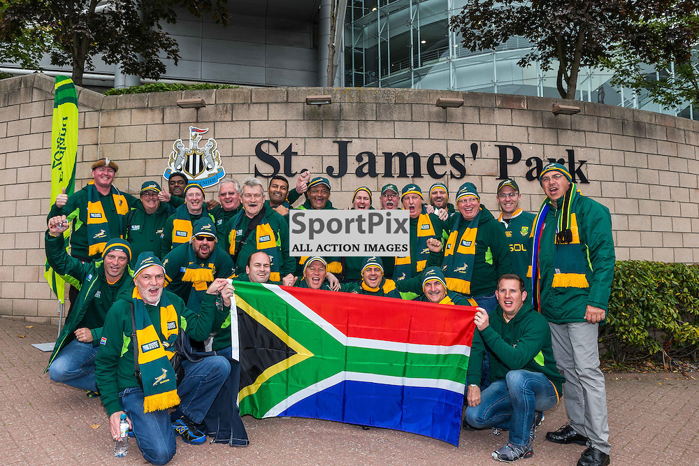 South African fans before the Rugby World Cup match between Scotland and South Africa (c) ROSS EAGLESHAM | Sportpix.co.uk