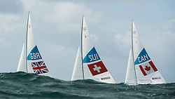 2012 Olympic Games London / Weymouth<br /> <br /> Percy Iain, Simpson Andrew, (GBR, Star)<br /> Marazzi Flavio, De Maria Enrico, (SUI, Star)<br /> Clarke Richard, Bjorn Tyler, (CAN, Star)
