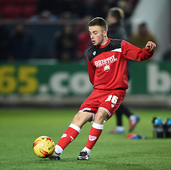 Joe Morrell of Bristol City warms up before the FA Cup third round game between Bristol City and West Bromwich Albion on 20 January 2016 in Bristol, England - Mandatory by-line: Paul Knight/JMP - Mobile: 07966 386802 - 19/01/2016 -  FOOTBALL - Ashton Gate Stadium - Bristol, England -  Bristol City v West Bromwich Albion - FA Cup third round
