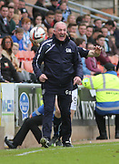 Dundee assistant boss Gerry McCabe gets agitated - Dundee United v Dundee at Tannadice Park in the SPFL Premiership<br /> <br />  - © David Young - www.davidyoungphoto.co.uk - email: davidyoungphoto@gmail.com