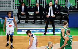 Slaven Rimac, head coach of Cedevita Olimpija during basketball match between KK Cedevita Olimpija and KK Igokea in Round #14 of ABA League 2019/20, on January 5, 2020 in Arena Stozice, Ljubljana, Slovenia. Photo by Vid Ponikvar/ Sportida