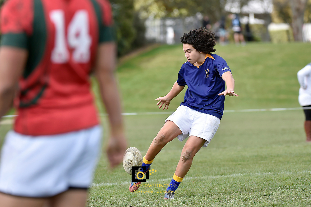 Action from the College Rugby Premier 2 Final - Bishop Viard College v St Bernard's College  at St Pat's Silverstream, Upper Hutt, New Zealand on Saturday 22 August 2015.<br /> Photo by Masanori Udagawa. <br /> www.photowellington.photoshelter.com.