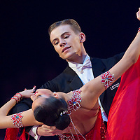 23 January 2010: Katarzyna Czyzyk and Mateusz Papuzynski perform during the Masters Bercy Latin and Ballroom (standard) Dancesport Championship 2010, at Palais Omnisports Paris Bercy, in Paris, France. .