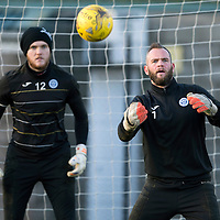 St Johnstone Training…29.12.15<br />Alan Mannus pictured in training at McDiarmid Park ahead of tomorrow's game at Motherwell with Zander Clark<br />Picture by Graeme Hart.<br />Copyright Perthshire Picture Agency<br />Tel: 01738 623350  Mobile: 07990 594431