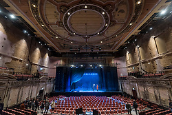 © Licensed to London News Pictures. 30/11/2018. LONDON, UK.  Alexandra Palace Theatre re-opens to the public for the first time in 80 years following a £27 million restoration, supported by the Heritage Lottery Fund and Haringey Council.  Originally opened in 1875, Alexandra Palace Theatre was where audiences were entertained by pantomime, opera, drama, ballet and music hall.  The Victorian engineering marvel re-opens in December 2018 with a programme of drama, music, comedy and family shows.  Photo credit: Stephen Chung/LNP