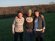Upgrade Athens County- Chris Chmiel - alumni (UAC founder) wearing green hat with Sarah Conley-Ballew alumni (UAC Exec Director) and Mat Roberts - alumni (UAC Info/Outreach Director)