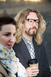 © Licensed to London News Pictures. 22/12/2011. London, UK. Comedian and TV presenter JUstin Lee Collins arriving at St Albans Magistrates court today (22/12/2011) to face charges of harrassing his ex-girlfriend . Photo credit: Ben Cawthra/LNP
