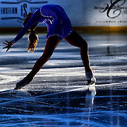 January 13, 2014, Boston, MA: <br /> 2014 US Junior Ladies Champion Amber Glen performs during a figure skating showcase at Fenway Park as part of Frozen Fenway 2014. <br /> (Photo by Billie Weiss/Boston Red Sox)