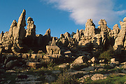SPAIN, ANDALUSIA 'El Torcal Mountain', fantastic eroded limestone formations near Antequera, north of Malaga
