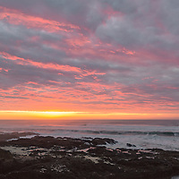 Beautiful sunset at Cape Perpetua, Oregon