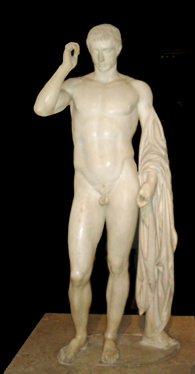 Marble Statue of Emperor Gordien III. Circa 224-244 AD. Roman Emperor. In 242 he marched against the Persians and relieved Antioch, but was assassinated by his own soldiers.