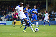 Oldham Athletic forward Freddie Ladapo (12) during the EFL Sky Bet League 1 match between Gillingham and Oldham Athletic at the MEMS Priestfield Stadium, Gillingham, England on 8 October 2016. Photo by Martin Cole.