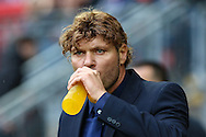 Mauro Milanese, Manager of Leyton Orient, drinks from a bottle before the Sky Bet League 1 match at the Matchroom Stadium, London<br /> Picture by David Horn/Focus Images Ltd +44 7545 970036<br /> 22/11/2014