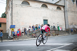 Lourdes Oyarbide Jimenez (ESP) of Bizkaia-Durango Cycling Team rides through San Martino at full speed during the Giro Rosa 2016 - Stage 7. A 21.9 km individual time trial from Albisola to Varazze, Italy on July 8th 2016.