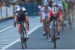 November 4, 2017 - Saitama, Japan - Mark Cavendish (Dimension Data) sprints to win the 58.9km Main Race, ahead of  Fumiyuki Beppu (Right - Tour de France Japan Team), during the 5th edition of TDF Saitama Criterium 2017 ..On Saturday, 4 November 2017, in Saitama, Japan. (Credit Image: © Artur Widak/NurPhoto via ZUMA Press)
