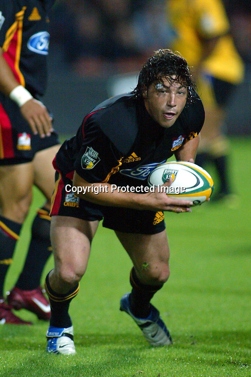20th February, 2004. Westpac Stadium, Hamilton, New Zealand. Rugby Union Super 12. Chiefs v Hurricanes.<br />Byron Kelleher.<br />The Chiefs won the match, 19 - 7.<br />Pic: Chris Skelton/Photosport