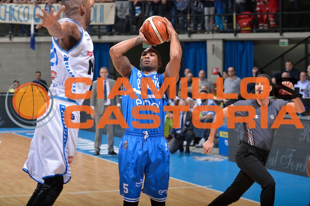 Phil Goss<br /> Mia Pallacanestro Cantu - Enel New Basket Brindisi<br /> Lega Basket Serie A 2016/2017<br /> Desio, 19/03/2017<br /> Foto M.Ceretti / Ciamillo - Castoria