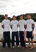 Reading, Great Britain, GBR M4X  left, Tom SOLESBURY, Stephen ROWBOTHAM, Sam TOWNSEND and Bill LUCAS.  2011 GBRowing World Rowing Championship, Team Announcement.  GB Rowing  Caversham Training Centre.  Tuesday  19/07/2011  [Mandatory Credit. Peter Spurrier/Intersport Images]