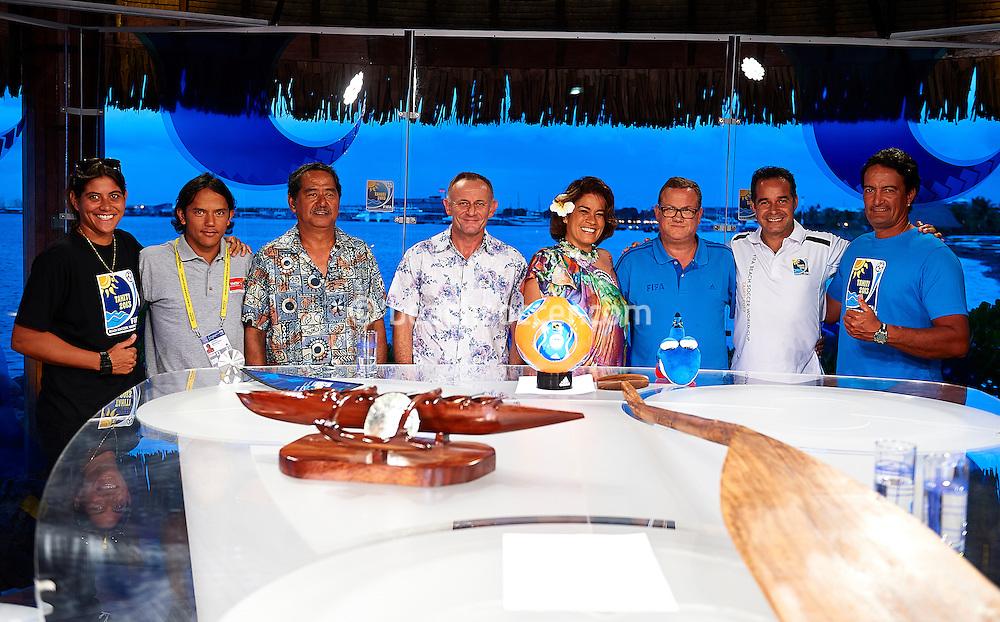 PAPEETE, TAHITI - OCTOBER 20:  FIFA Beach Soccer World Cup Tahiti 2013 at Stadium Tahua To´ata  on October 20, 2013 in Papeete, Tahiti. (Photo by Manuel Queimadelos)