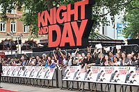 Knight and Day Fans Knight and Day UK Premiere, held at the Odeon Cinema, Leicester Square, London, UK, 22 July 2010: For piQtured Sales contact: Ian@Piqtured.com +44(0)791 626 2580 (Picture by Richard Goldschmidt/Piqtured)