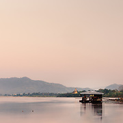Fishing hut on Mekhong River at Chiang Khong, Thailand
