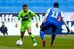 Max Aarons of Norwich City takes on Gavin Massey of Wigan Athletic - Mandatory by-line: Robbie Stephenson/JMP - 14/04/2019 - FOOTBALL - DW Stadium - Wigan, England - Wigan Athletic v Norwich City - Sky Bet Championship