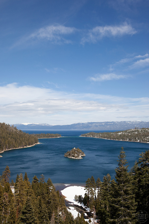 """""""Emerald Bay 2"""" - This is a photograph of Fannette Island in Emerald Bay, Lake Tahoe."""