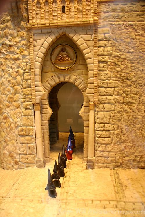Europe, Spain, Toledo. Marzipan display of Toledo.