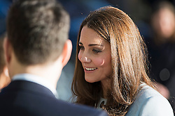© London News Pictures. 19/01/2015. London, UK. Catherine, Duchess of Cambridge during a visit to formally opening the Kensington Aldridge Academy in West London. Photo credit: Ben Cawthra/LNP