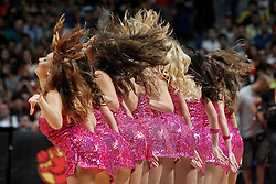 23.08.2013, Palacio de los Deportes, Madrid, ESP, Basketball Freundschaftsspiel, Spanien vs Frankreich, im Bild Spain's cheerleaders // during a Basketball international friendly between Spain and France, Palacio de los Deportes in Madrid, Spain on 2013/08/23. EXPA Pictures © 2013, PhotoCredit: EXPA/ Alterphotos/ Acero<br /> <br /> ***** ATTENTION - OUT OF ESP and SUI *****