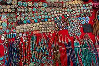 Handicrafts for sale at shops ringing the Durbar Square, Kathmandu, Nepal.