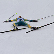 Winter Olympics, Vancouver, 2010.Australia's Ben Sim,  in the Men's 15km Cross Country Skiing event at The Whistler Olympic Park, Whistler, during the Vancouver Winter Olympics. 14th February 2010. Photo Tim Clayton