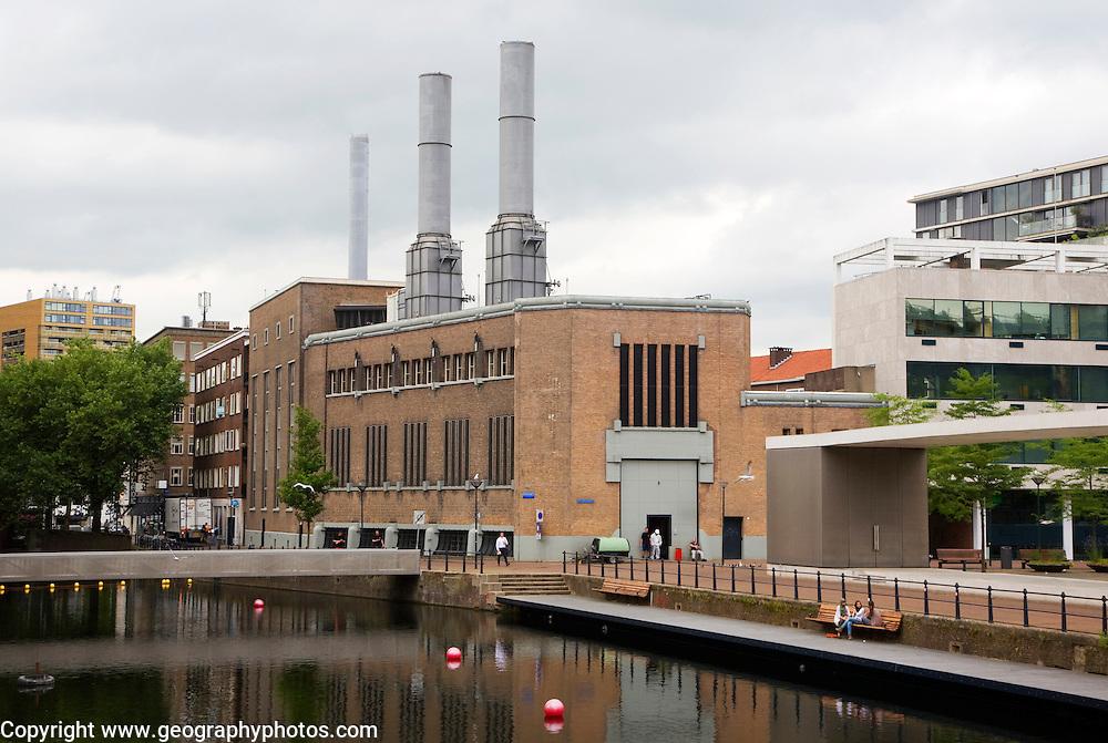 Inner city heating plant power station Delftsevaart, Rotterdam, Netherlands