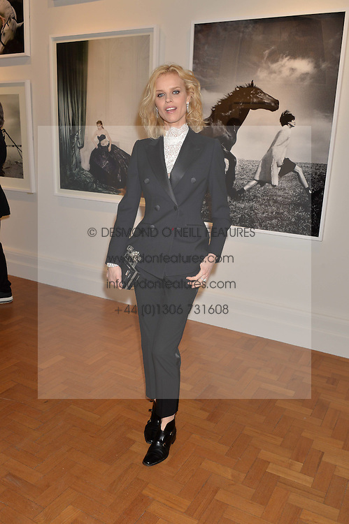 EVA HERZIGOVA at the Alexandra Shulman and Leon Max hosted opening of Vogue 100: A Century of Style at The National Portrait Gallery, London on 9th February 2016.