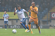 Port Vale Forward, Rigino Cicilia (9) on the ball during the EFL Sky Bet League 1 match between Bury and Port Vale at the JD Stadium, Bury, England on 3 September 2016. Photo by Mark Pollitt.