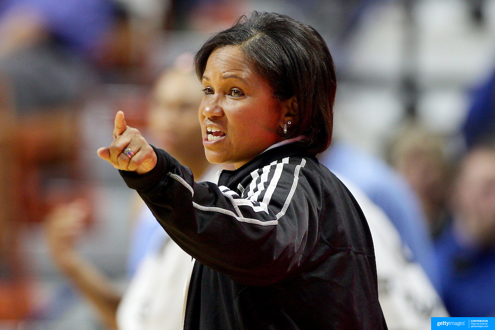 UNCASVILLE, CONNECTICUT- MAY 05:  Head Coach Pokey Chatman, Chicago Sky, during the Atlanta Dream Vs Chicago Sky preseason WNBA game at Mohegan Sun Arena on May 05, 2016 in Uncasville. (Photo by Tim Clayton/Corbis via Getty Images)