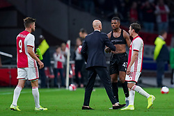 13-08-2019 NED: UEFA Champions League AFC Ajax - Paok Saloniki, Amsterdam<br />  Ajax won 3-2 and they will meet APOEL in the battle for a group stage spot / Chuba Akpom #47 of PAOK, Coach Erik ten Hag # of Ajax