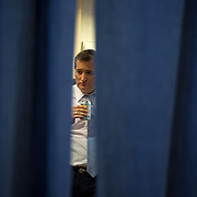TOWSON, MD- APR18: Presidential candidate Ted Cruz waits to go onstage at a rally in Townson, Maryland, April 18, 2016, at the American Legion Post 22. (Photo by Evelyn Hockstein/For The Washington Post)