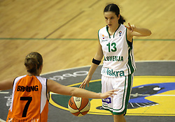 Nika Baric at basketball qualification match of women division B  between National teams of Slovenia and Netherlands, on August 27, 2008, in Vitranc Hall, Kranjska Gora. Win of NED 83:81. (Photo by Vid Ponikvar / Sportida)