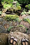 Gardens at temple lodging, Yochiin.
