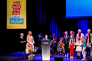 DRACHTEN - Queen Maxima is, as honorary chairman of Meer Muziek in de Klasaanwezig, present at the signing of the cooperation agreement music education Friesland in Schouwburg De Lawei in Drachten. cxopyright robin utrecht