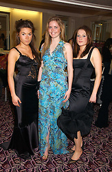 Left to right, debutantes SOPHIE VAN HAEFTEN, KATIE READMAN and HARRIET ZIEGLER at a ball in aid of the English National Ballet featuring debutantes rom the forthcoming season held at The park Lane Hotel, Piccadilly, London on 16th March 2006.<br />