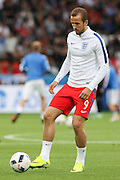 England Forward Harry Kane in warm up during the Euro 2016 Group B match between Slovakia and England at Stade Geoffroy Guichard, Saint-Etienne, France on 20 June 2016. Photo by Phil Duncan.