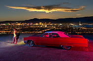 American Dreamscapes Viva Las Vegas, caddy, night, skyline, Nevada, noir