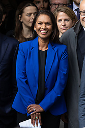 © Licensed to London News Pictures. 24/09/2019. London, UK. Anti-Brexit campaigner and businesswoman Gina Miller leaves the Supreme Court after the Court made a historic ruling that Boris Johnson's decision to suspend Parliament for five weeks was unlawful. Photo credit : Tom Nicholson/LNP