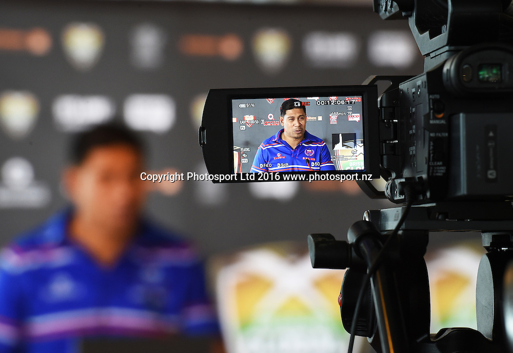 Samoa coach Alama Ieremia during a press conference to announce the Brisbane Global Rugby Tens annual tournament. Spencer on Byron Hotel, Auckland, New Zealand. Thursday 4 August 2016. © Copyright Photo: Andrew Cornaga / www.Photosport.nz